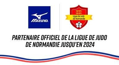 Mizuno devient le nouveau partenaire de la Ligue de Normandie de Judo pour les 4 prochaines années