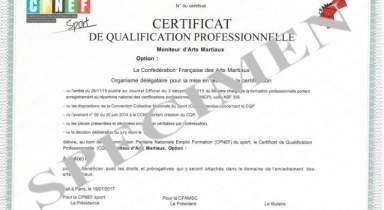 Liste des admis à l'examen CQP MAM